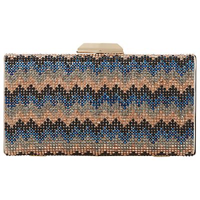 Dune Bziggy Beaded Box Clutch Bag