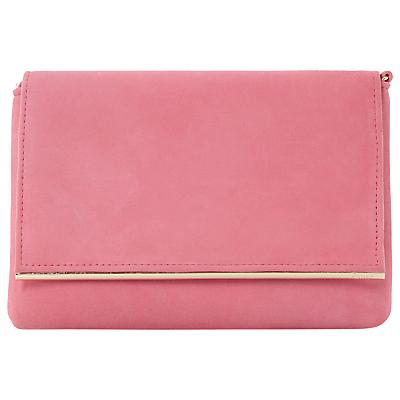 Dune Bouncy Clutch Bag, Pink