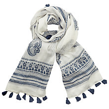 Buy Harris Wilson Globe Cheche Scarf, Marine Online at johnlewis.com