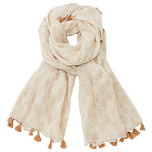 Buy Harris Wilson Gif Cheche Scarf, Ecru Online at johnlewis.com