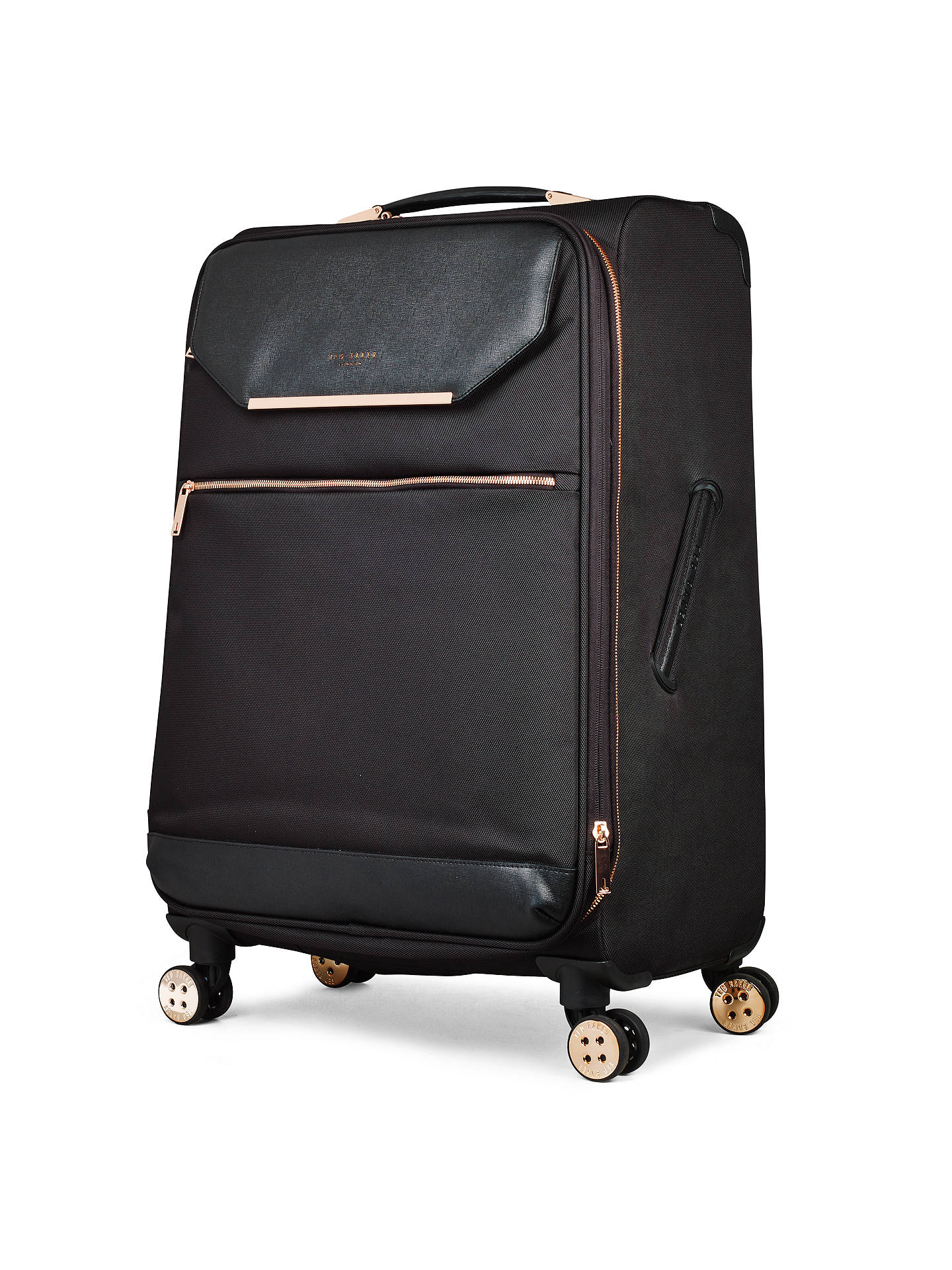 BuyTed Baker Soft Albany 71cm 4-Wheel Suitcase, Black Online at johnlewis.com