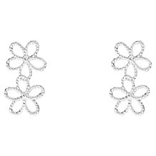 Buy Joma Ditzy Daisy Drop Earrings, Silver Online at johnlewis.com