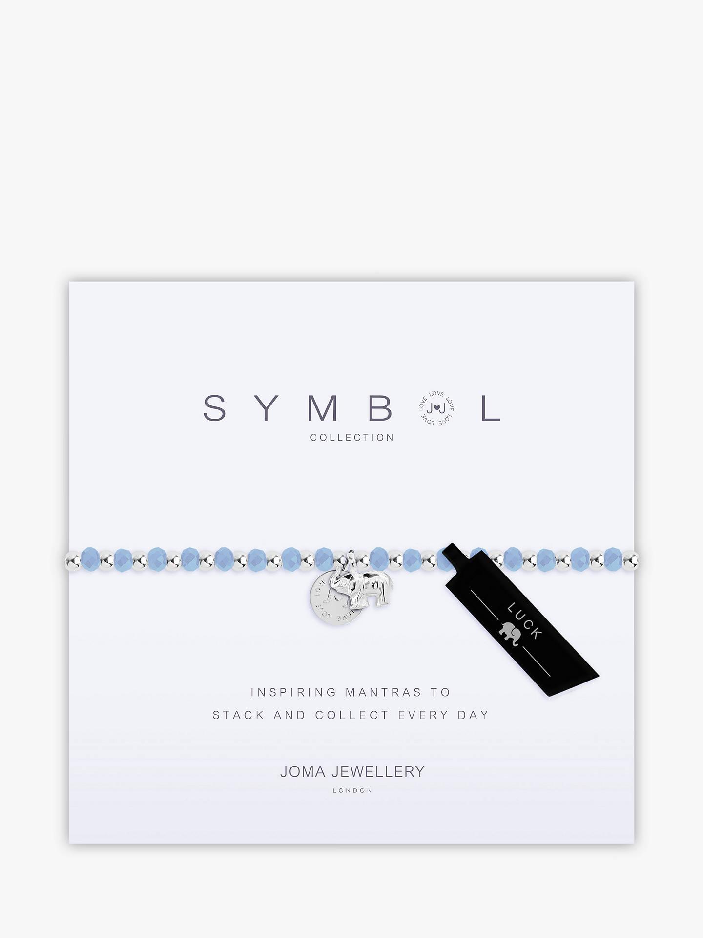 Joma Elephant Charm Beaded Bracelet Silver Blue Online At Johnlewis
