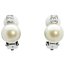 Buy Lido Pearls Freshwater Pearl and Cubic Zirconia Clip-On Earrings, White Online at johnlewis.com