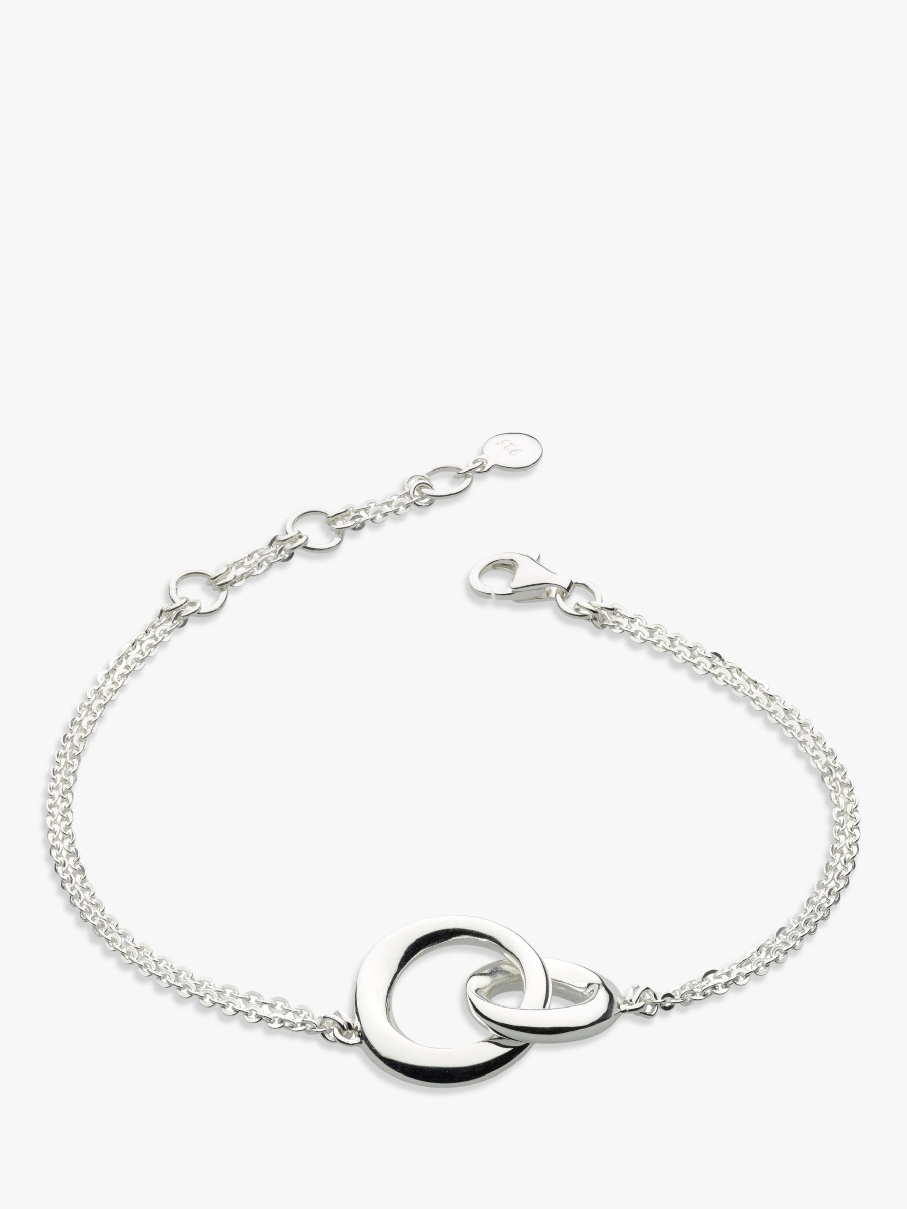 Kit Heath Kit Heath Bevel Double Link Chain Bracelet, Silver