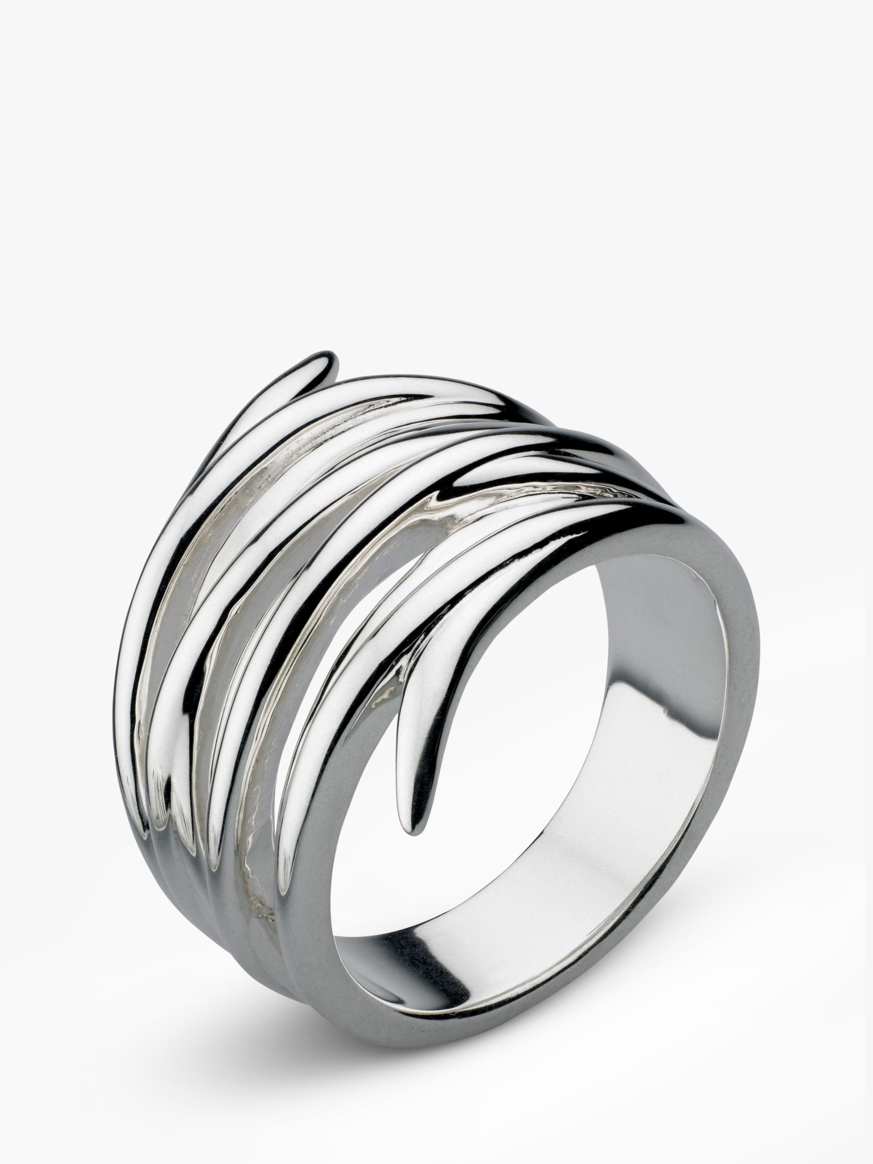 Kit Heath Kit Heath Twine Helix Wrap Ring, Silver