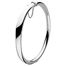 Buy Kit Heath Bevel Curved Hinged Bangle, Silver Online at johnlewis.com