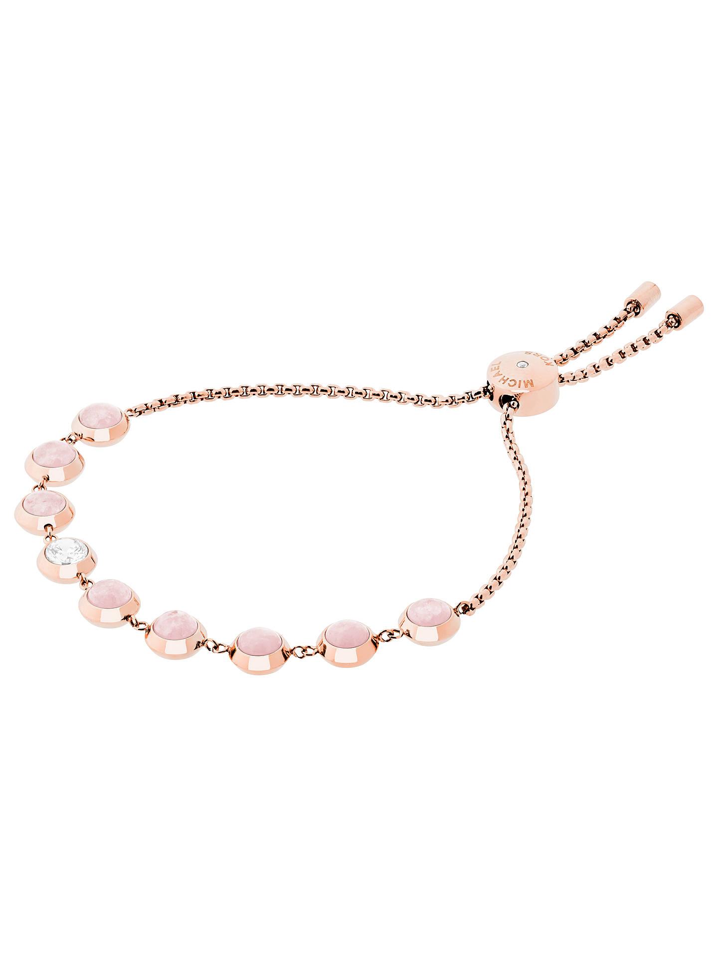 dcd66716d Buy Michael Kors Rose Quartz Slider Chain Bracelet, Rose Gold/Blush Online  at johnlewis ...