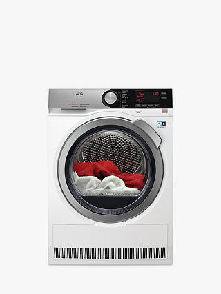 Buy AEG T8DEC946R Heat Pump Tumble Dryer, 9kg Load, A++ Energy Rating, White Online at johnlewis.com