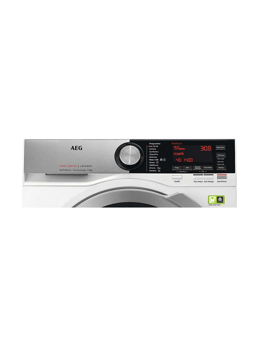 Buy AEG ProSteam Technology L9FEC966R Freestanding Washing Machine, 9kg Load, A+++ Energy Rating, 1600rpm Spin, White Online at johnlewis.com