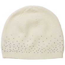 Buy Pure Collection Karen Cashmere Sparkle Hat, One Size, Winter White Online at johnlewis.com