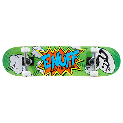 Enuff Pow Mini Skateboard, Orange/Blue