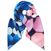 Buy Ted Baker Marina Mosaic Skinny Scarf, Navy/Blush Online at johnlewis.com