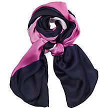 Buy Ted Baker Marina Mosaic Long Silk Scarf, Midnight Navy/Pink Online at johnlewis.com