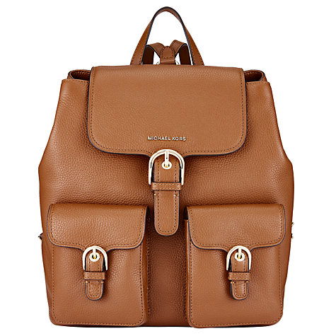 4fbdc4c445eda1 ... Gallery Buy MICHAEL Michael Kors Cooper Leather Large Backpack Online  at johnlewis.com .