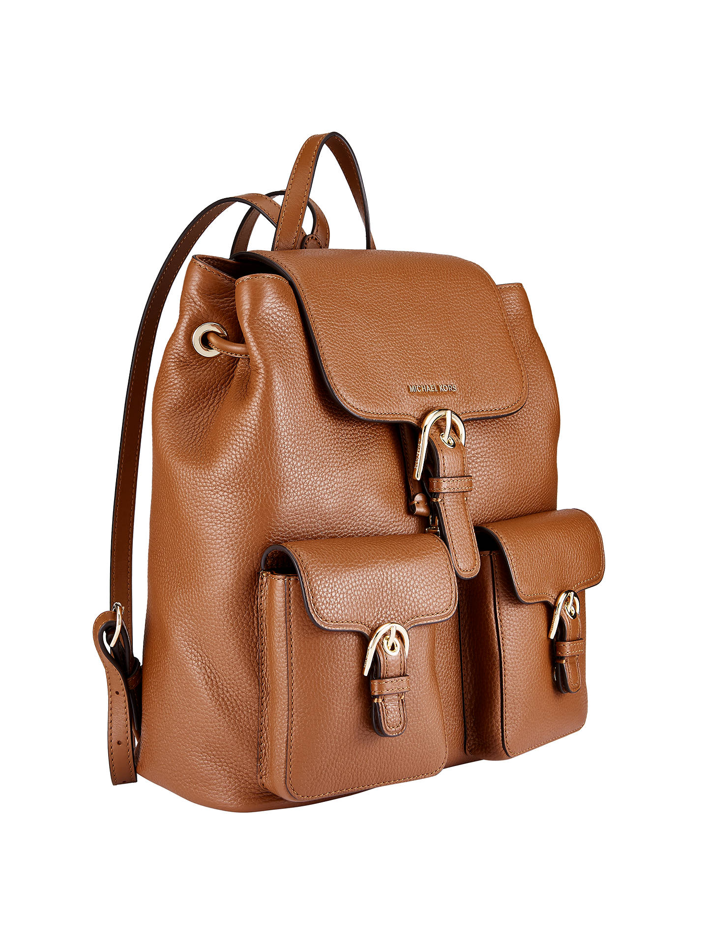 ae6e38aa7b05bf ... Buy MICHAEL Michael Kors Cooper Leather Large Backpack, Luggage Online  at johnlewis.com