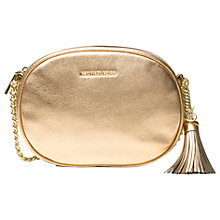 Buy MICHAEL Michael Kors Ginny Leather Across Body Bag Online at johnlewis.com