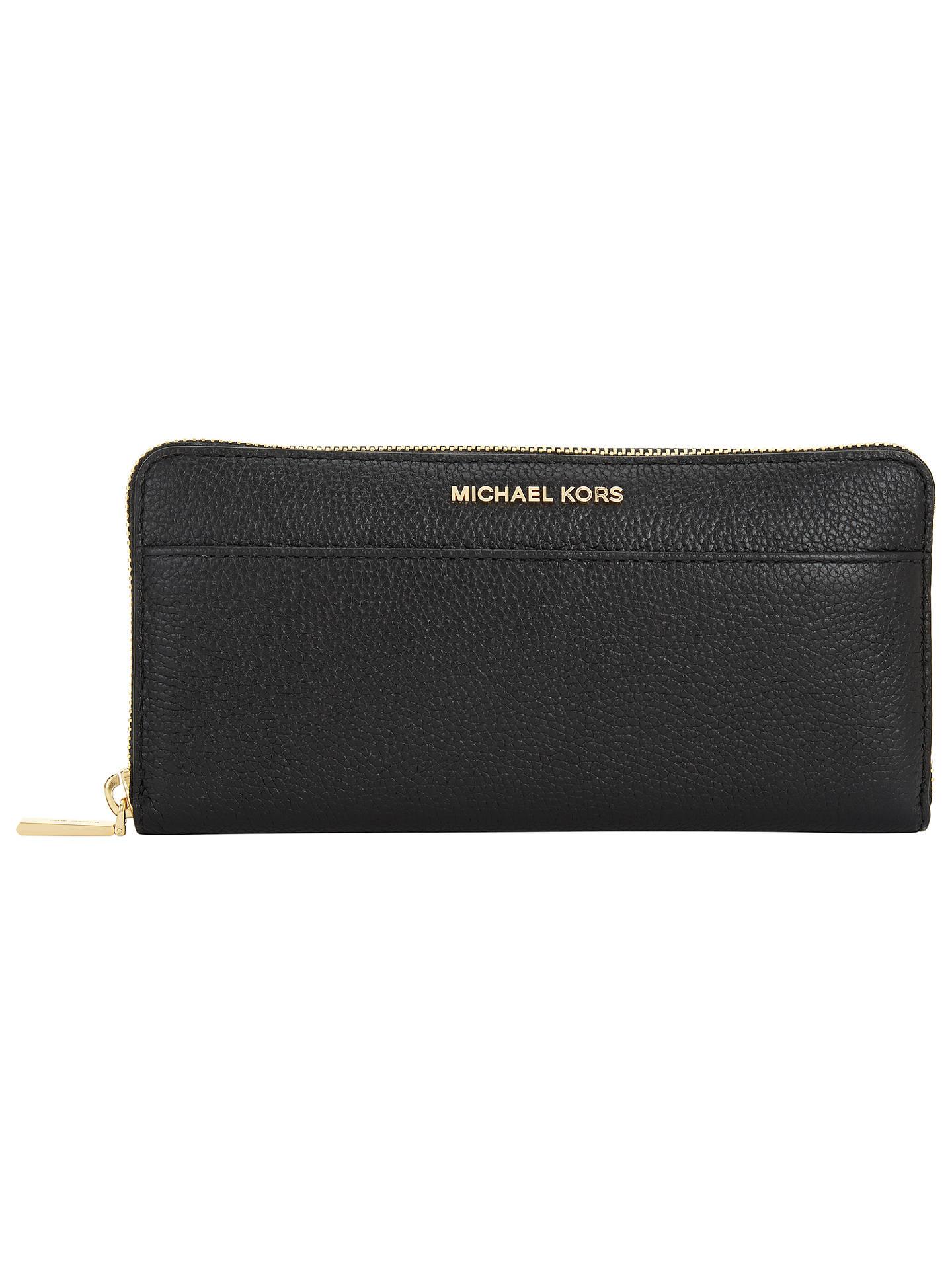 04cd7b0cde18e MICHAEL Michael Kors Mercer Leather Zip Around Continental Purse ...