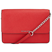 Buy MICHAEL Michael Kors Daniela Large Leather Across Body Purse, Bright Red Online at johnlewis.com