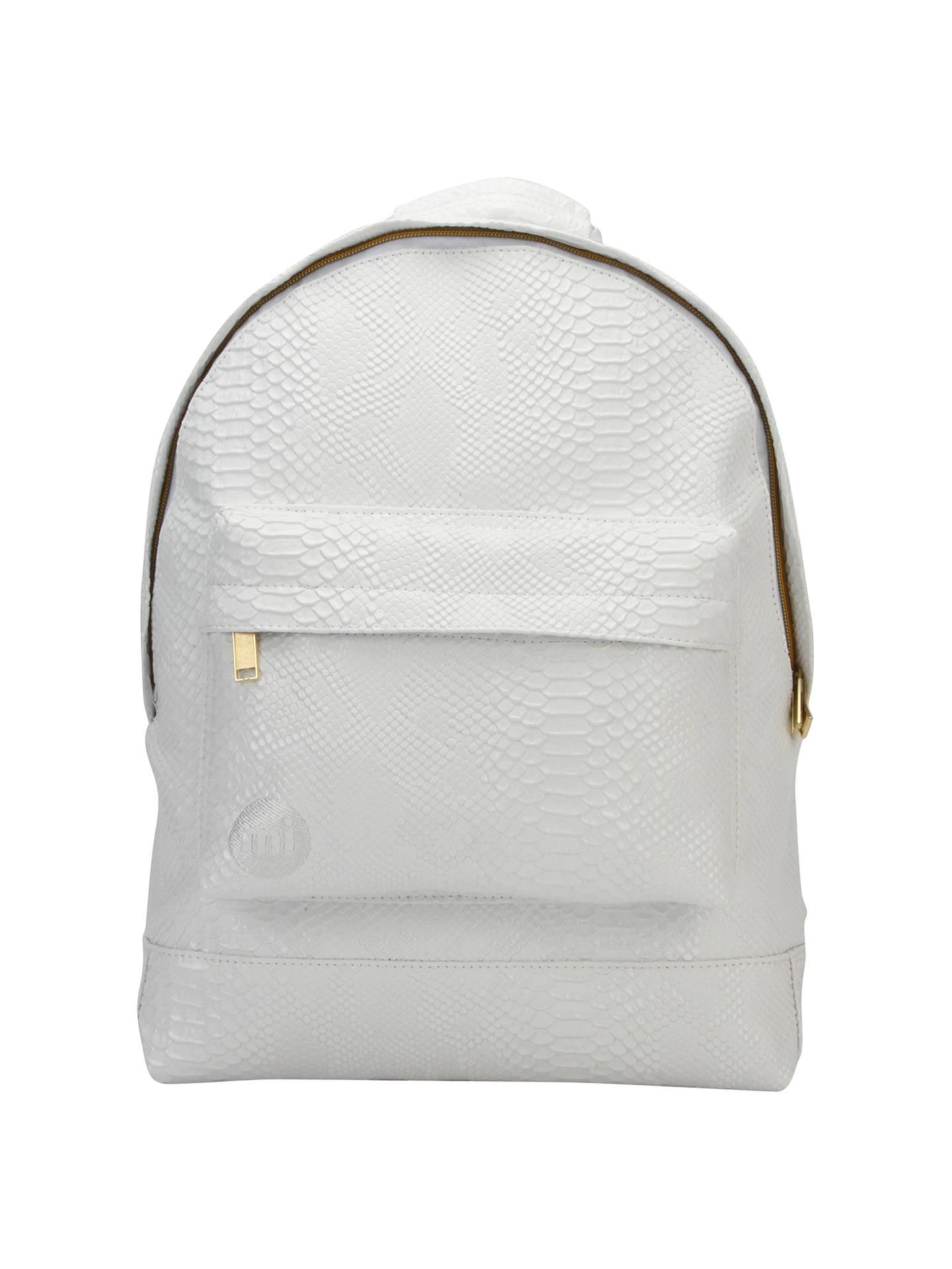 b148dabb787 Buy Mi-Pac Faux Python Backpack, White Online at johnlewis.com ...