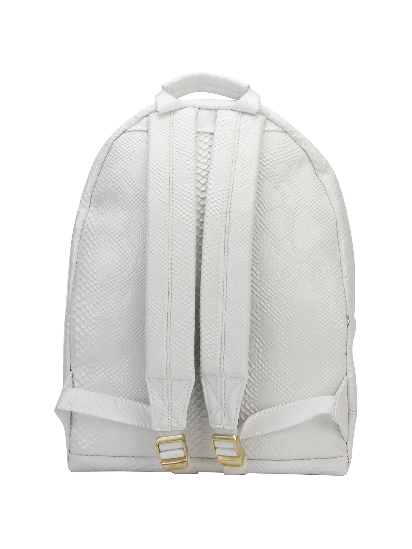 d12e5460cad ... Buy Mi-Pac Faux Python Backpack, White Online at johnlewis.com ...