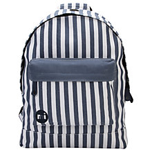 Buy Mi-Pac Custom Seaside Stripe Backpack, Blue Online at johnlewis.com