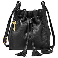 Buy Fossil Claire Leather Drawstring Across Body Bag Online at johnlewis.com