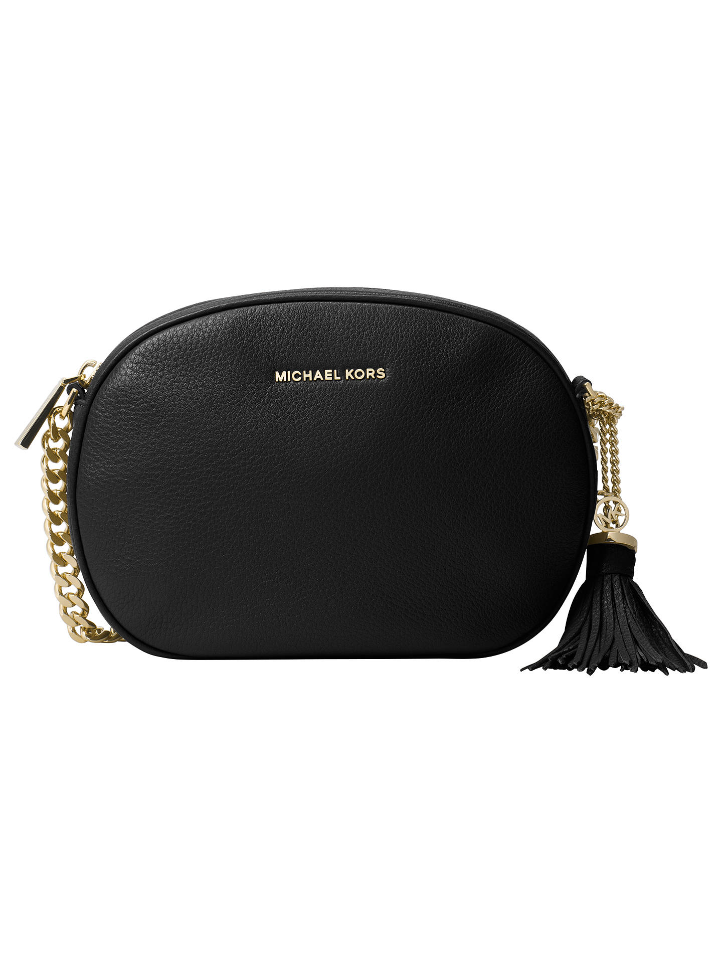 MICHAEL Michael Kors Ginny Leather Cross Body Bag at John Lewis ... dcab24ce8e4c8