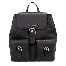 Buy MICHAEL Michael Kors Cooper Leather Large Backpack Online at johnlewis.com