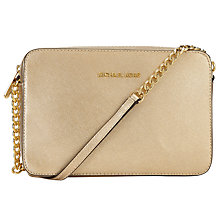 Buy MICHAEL Michael Kors Jet Set Travel East/West Leather Across Body Bag Online at johnlewis.com