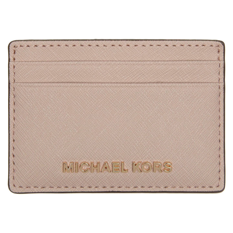 Card Holder for Women On Sale, Oat Beige, Leather, 2017, One size Michael Kors