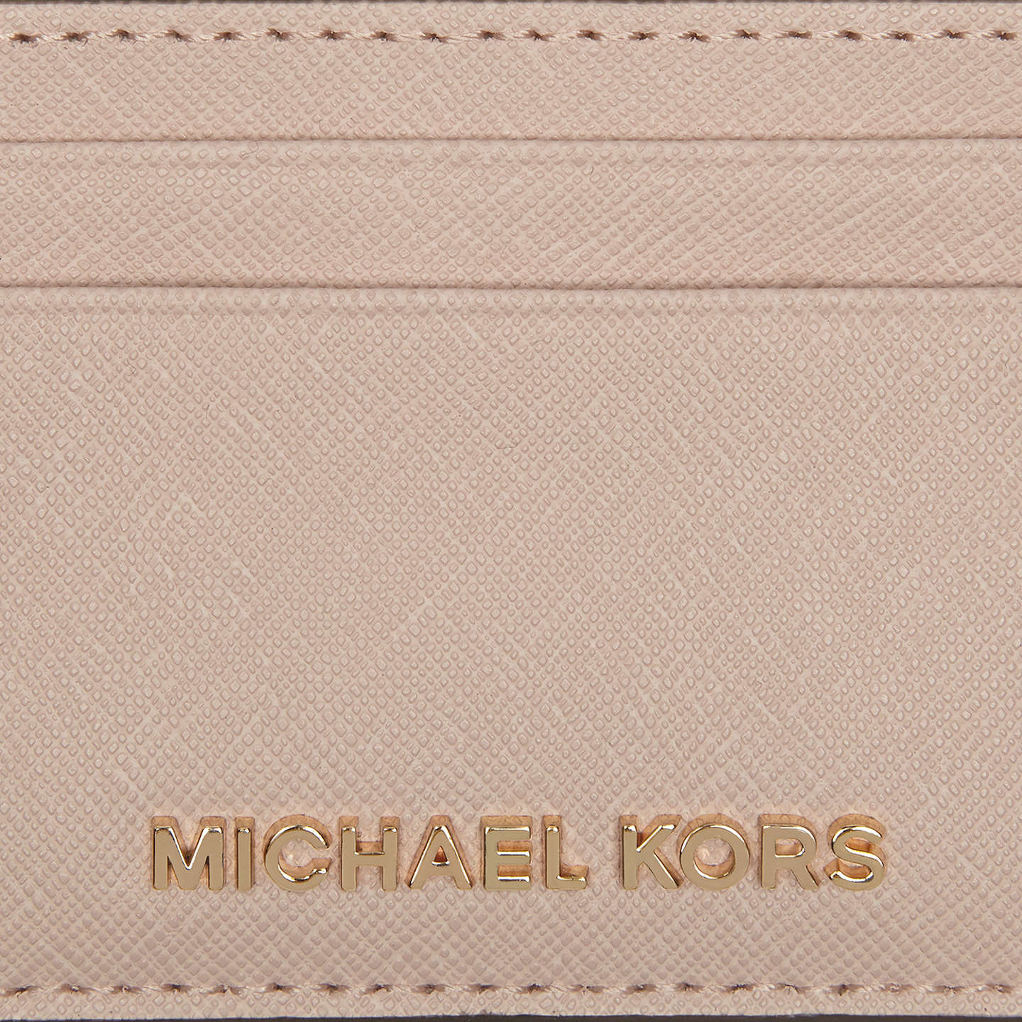 BuyMICHAEL Michael Kors Jet Set Travel Leather Card Holder, Soft Pink Online at johnlewis.com
