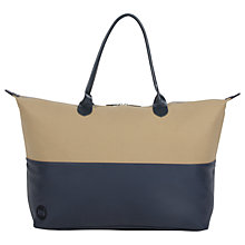 Buy Mi-Pac Weekender Bag, Sand/Navy Online at johnlewis.com