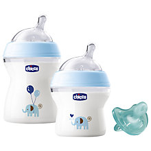 Buy Chicco NaturalFeeling Baby Bottles and Soother Gift Set Online at johnlewis.com