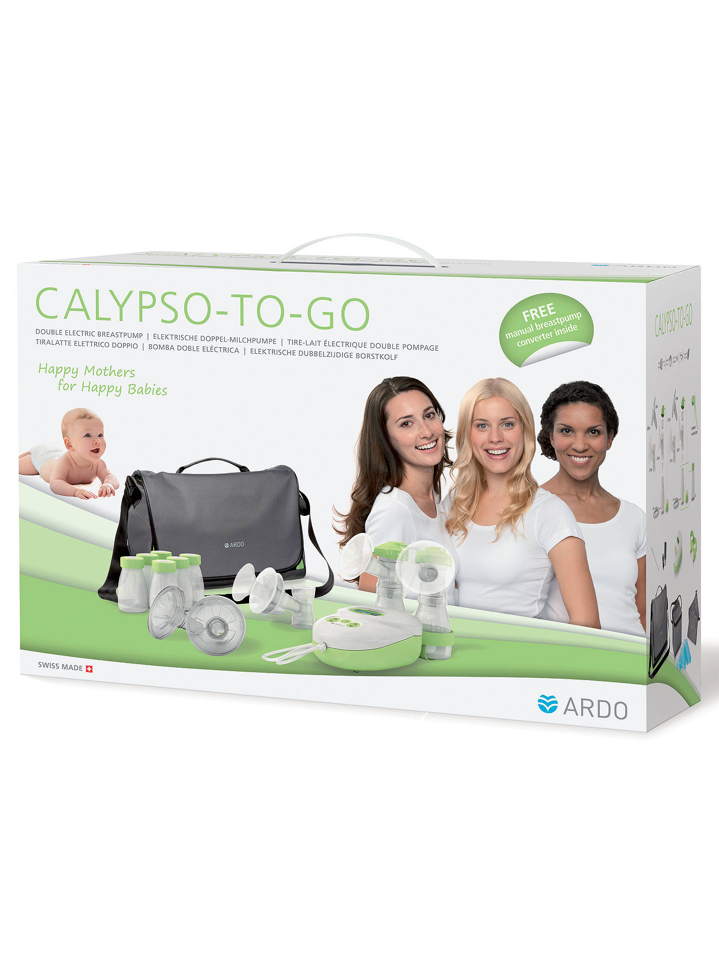 Ardo Calypso To Go Ultimate Breast Pump Kit At John Lewis Partners