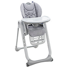 Buy Chicco Polly2Start Highchair, Silver Online at johnlewis.com