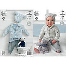 Buy King Cole Double Knit Baby Cardigan Knitting Pattern, 4319 Online at johnlewis.com
