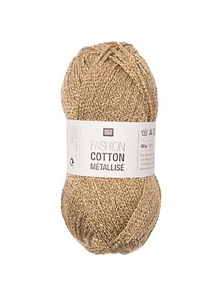 Rico Cotton Metallise Fashion Yarn, 50g