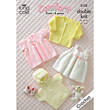 Buy King Cole Comfort DK Baby Dress and Jumper Crochet Pattern, 3152 Online at johnlewis.com