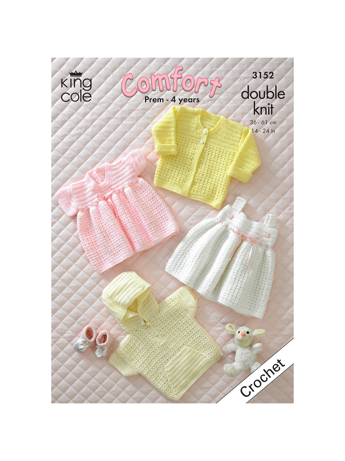 King Cole Comfort Dk Baby Dress And Jumper Crochet Pattern 3152 At