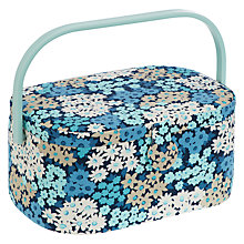 Buy John Lewis Camomile Lawn Oval Sewing Basket, Blue Floral Online at johnlewis.com