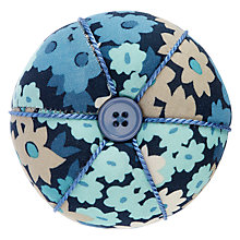 Buy John Lewis Camomile Lawn Wrist Pin Cushion, Blue Floral Online at johnlewis.com