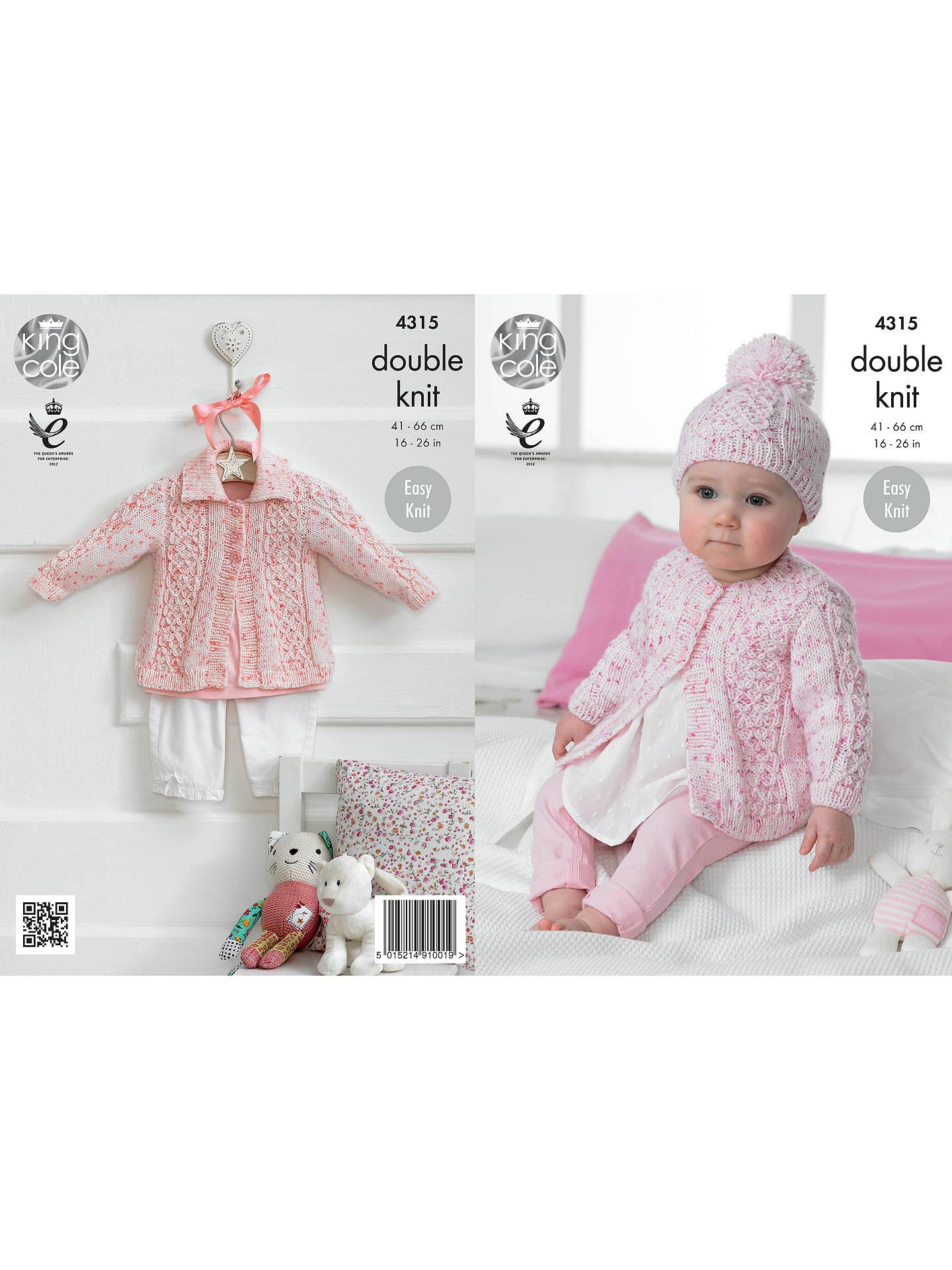 King Cole Smarty DK Baby Cardigan Knitting Pattern, 4315 ...