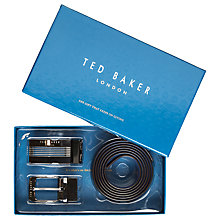 Buy Ted Baker Hoffman Reversible Belt in a Box, One Size, Black Online at johnlewis.com