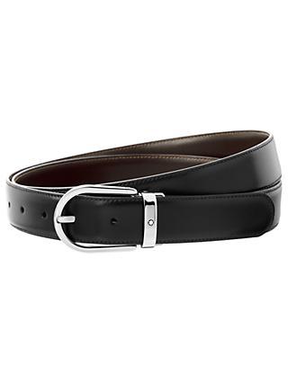 ccaee758a68b6d Montblanc Horseshoe Leather Reversible Belt