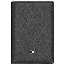 Buy Montblanc Meisterstück Soft Grain Leather Trifold Wallet, Black Online at johnlewis.com