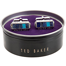 Buy Ted Baker Preshus Rectangle Cufflinks, Blue Online at johnlewis.com