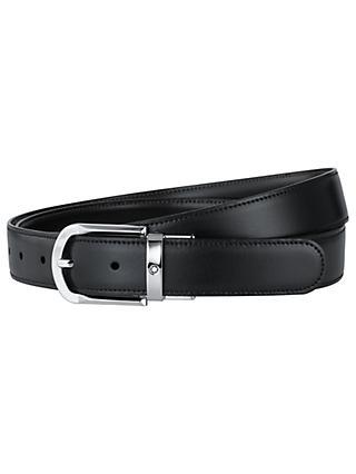 b497a497708b2d Montblanc Horseshoe Leather Belt