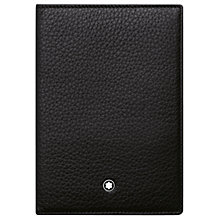 Buy Montblanc Meisterstück Soft Grain Leather International Passport Holder, Black Online at johnlewis.com