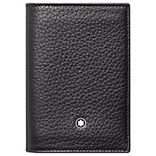 Buy Montblanc Meisterstuck Soft Grain Business Card Holder, Black Online at johnlewis.com